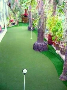 backyard putting green in thailand