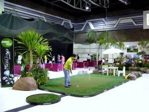 thailand putting green installation
