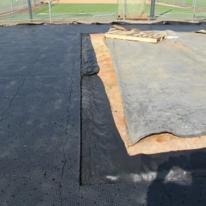 ultrabasesystems panels cut for baseball field turf installation